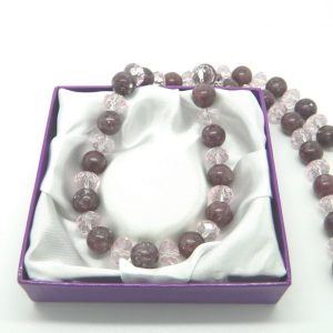 Lepidolite and Crystals Necklace